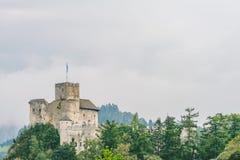 Niedzica Castle, Poland. Medieval Niedzica Castle, also known as Dunajec Castle. Poland stock photography