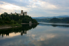 Niedzica Castle. Reflected in Czorsztyn lake Royalty Free Stock Photo