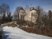 NIEDZICA, POLAND 2015 February 21: Niedzica Castle at Czorsztyn Royalty Free Stock Image