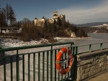 NIEDZICA, POLAND 2015 February 21: Niedzica Castle at Czorsztyn Royalty Free Stock Photos