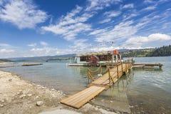 NIEDZICA, POLAND - JUNE 21: Cruise ship on the lake Czorsztynski Royalty Free Stock Image