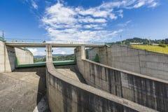 NIEDZICA, POLAND - JUNE 21: Dam in Niedzica, next to the lake Cz Royalty Free Stock Photography