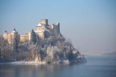 Niedzica, Pologne, vue d'hiver Images stock