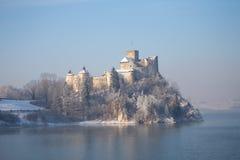 Niedzica, Polska, zima widok zdjęcia stock