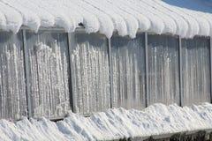 Śnieg Blanketed budynek Obrazy Royalty Free