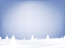 śnieg krajobrazu Zdjęcia Royalty Free