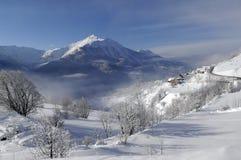 śnieg krajobrazu Obrazy Royalty Free
