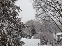 Śnieg na dachach Obrazy Royalty Free