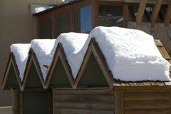 Śnieg na dachu Zdjęcia Stock
