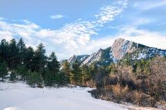 Śnieg na Flatirons zdjęcia royalty free