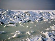 śnieg na lodzie Obrazy Royalty Free