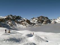 śnieg narciarski Zdjęcie Stock