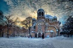 Śnieg parkowy Sedmochislenitsi w Sofia Obraz Royalty Free
