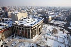 Śnieg w Bucharest Zdjęcie Royalty Free