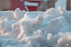 Śnieg w dachu obrazy royalty free
