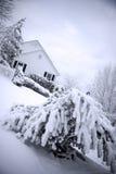 śnieg w domu Obrazy Royalty Free