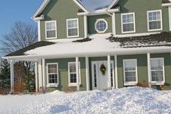 śnieg w domu Obrazy Stock