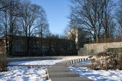 Śnieg w parku Zdjęcie Royalty Free