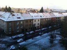 Śnieg w Pilsen obraz stock