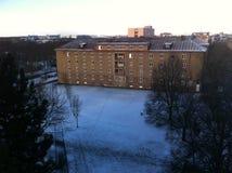 Śnieg w Pilsen zdjęcia stock