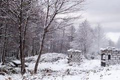 Śnieg w Sardinia Fotografia Stock