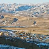 Śnieg w Uroczystych Caucausis górach Zdjęcia Royalty Free