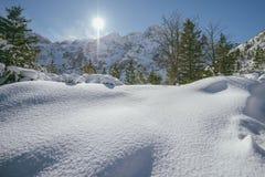 Śnieg w Wysokich Tatras górach, Polska Zdjęcie Royalty Free