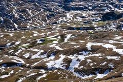 Śnieg w wzroscie Portalet Pyrenees zdjęcia stock