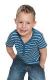 Niegrzeczna chłopiec Obrazy Royalty Free