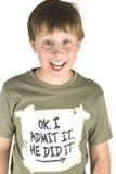niegrzeczny chłopiec fotografia stock