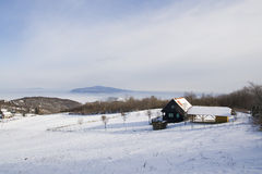 śniegu domowy weekend Obrazy Royalty Free