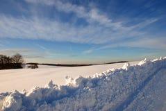 Śniegu krajobraz Obrazy Royalty Free