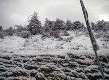 Śniegu krajobraz w zimie fotografia stock