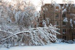 Śniegu Pogodowy problem Obrazy Stock