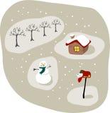 śniegurek na scenie Zdjęcie Royalty Free