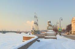 śniegurek rano zima Zdjęcia Royalty Free
