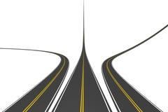 niekończące się autostrady ilustracja wektor