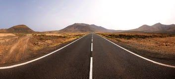niekończące się droga Zdjęcia Stock