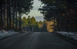 niekończące się droga Zdjęcie Royalty Free