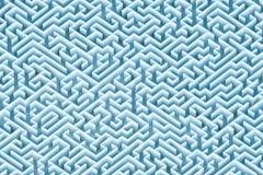 Niekończący się błękitnej zieleni prostokątny labirynt, labitynt architektury tapeta, tło lub tło, widok z lotu ptaka 3 d czyni? royalty ilustracja