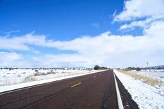 Niekończący się droga w Utah Obrazy Royalty Free