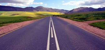 Niekończący się Drogowy Wiejski Krajobrazowy Południowa Afryka Obraz Royalty Free
