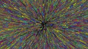 Niekończący się fotonu wybuch 4k royalty ilustracja