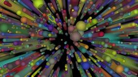 Niekończący się fotonu wybuch 4k ilustracji