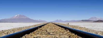 Niekończący się linie kolejowe Fotografia Royalty Free