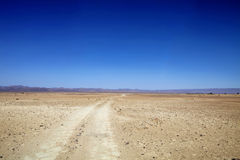 Niekończący się podróż marokańczyka pustynia Zdjęcie Stock
