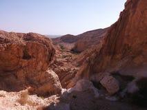 Niekończący się rozległość pustynia Obrazy Stock