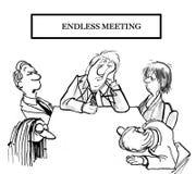 Niekończący się spotkanie jest ubranym za drużynie royalty ilustracja