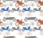 Niekończący się wzór z starymi samochodami Obraz Stock