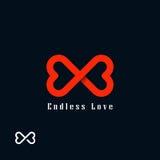 Niekończący się miłość symbol Zdjęcie Royalty Free